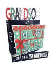 Merry Xmas Grandson 3D Christmas Card