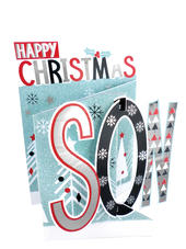 Happy Christmas Son 3D Christmas Card