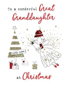 Great Granddaughter   Irresistible Christmas Greeting Card