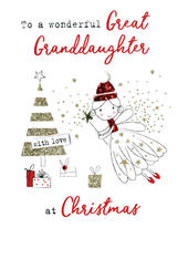 Great Granddaughter   Irresistible Christmas Greeting Card