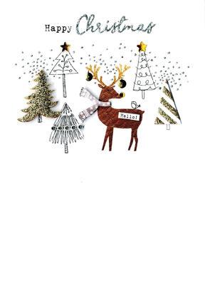 Reindeer & Trees  Irresistible Christmas Greeting Card