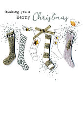 Hanging Stockings  Irresistible Christmas Greeting Card
