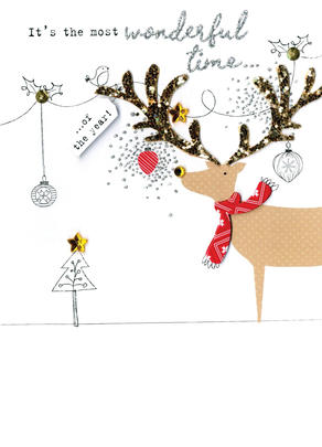 Reindeer  Irresistible Christmas Greeting Card
