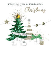 Christmas Tree  Irresistible Christmas Greeting Card