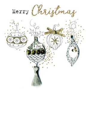 Baubles  Irresistible Christmas Greeting Card