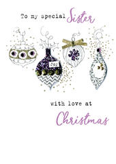 Sister Baubles  Irresistible Christmas Greeting Card