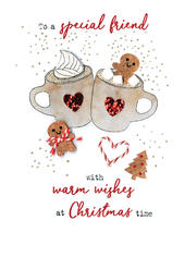 Special Friend  Irresistible Christmas Greeting Card