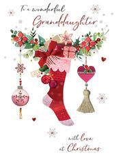 Granddaughter Embellished Magnifique Christmas Card