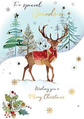 Grandson Embellished Magnifique Christmas Card