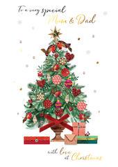 Mum & Dad Embellished Magnifique Christmas Card