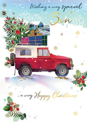 Son Embellished Magnifique Christmas Card