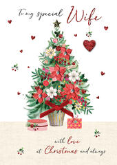 Wife Embellished Magnifique Christmas Card
