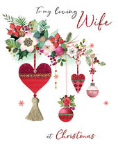 Loving Wife Embellished Magnifique Christmas Card