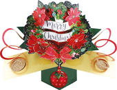 Wreath Pop-Up Christmas Greeting Card