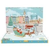Christmas In London Music Box Card Novelty Dancing Musical Christmas Card