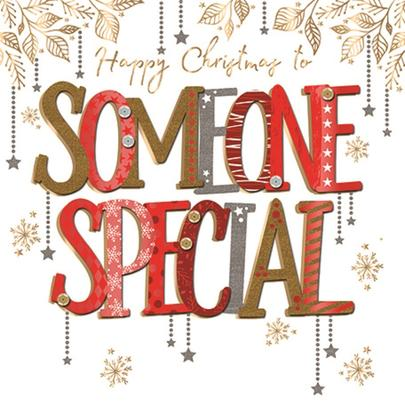 To Someone Special Embellished Christmas Greeting Card Special