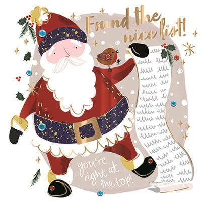Found The Nice List Foiled Christmas Greeting Card