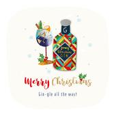 Gin-gle All The Way Embellished Christmas Greeting Card