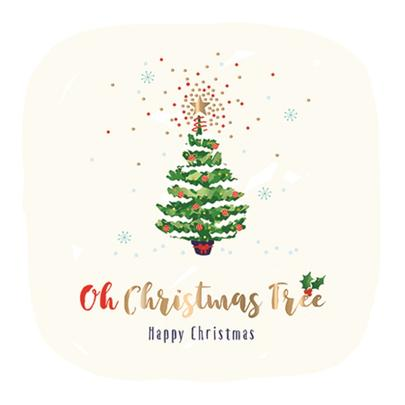 Oh Christmas Tree Embellished Christmas Greeting Card
