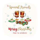 To Special Friends Embellished Christmas Greeting Card