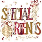 To Special Friends Embellished Christmas Greeting Card Special