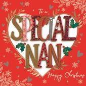 To A Special Nan Embellished Christmas Greeting Card Special