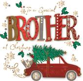 To A Special Brother Embellished Christmas Greeting Card Special