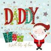 For You Daddy Embellished Christmas Greeting Card Special