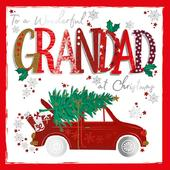 To A Wonderful Grandad Embellished Christmas Greeting Card Special