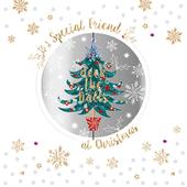 To A Special Friend Embellished Christmas Greeting Card Special