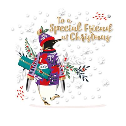 To A Special Friend Foiled Christmas Greeting Card Special