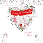 To A Special Little Girl Embellished Christmas Greeting Card Special