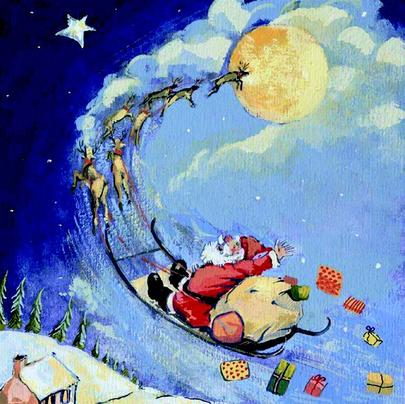 Pack of 8 Up Up & Away NSPCC Charity Christmas Cards