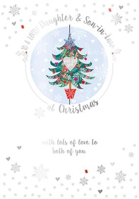 Daughter & Son-In-Law Embellished Christmas Greeting Card