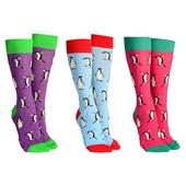 Sock Society Penguin Socks 3 Pairs Patterned Socks