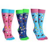 Sock Society Liquorice Allsorts Socks 3 Pairs Patterned Socks