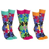 Sock Society Jigsaw Socks 3 Pairs Patterned Socks