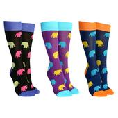 Sock Society Elephant Socks 3 Pairs Patterned Socks