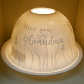 Nordic Lights Grandma Bone Porcelain Candle Shade