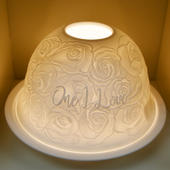 Nordic Lights One I Love Bone Porcelain Candle Shade
