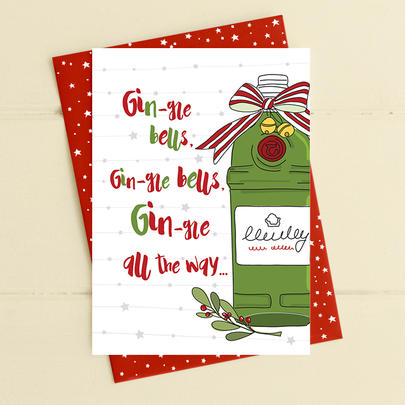 Gin-gle All The Way Christmas Card Gin-gle Bells Collection