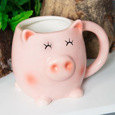 Animal Friends Ceramic Piglet Mug