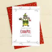 To A Fab-yule-ous Couple Christmas Card Deck The Halls Range