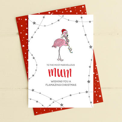 To The Most Marvellous Mum Christmas Card Deck The Halls Range