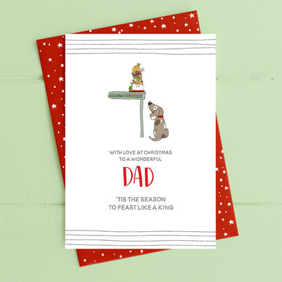 To A Wonderful Dad Christmas Card Deck The Halls Range