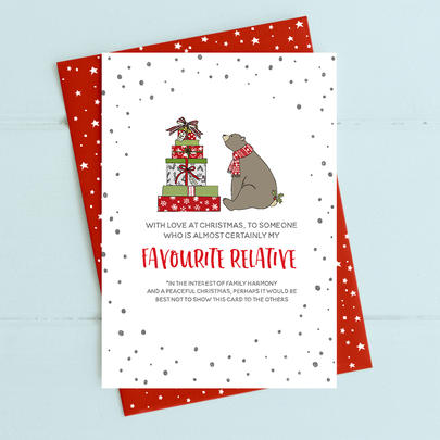 My Favourite Relative Christmas Card Deck The Halls Range