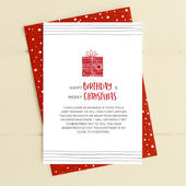 Happy Birthday & Merry Christmas Card Deck The Halls Range