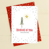 Thinking Of You Tree Christmas Card Deck The Halls Range