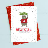 Missing You This Christmas Card Deck The Halls Range