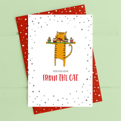 From The Cat Christmas Card Deck The Halls Range